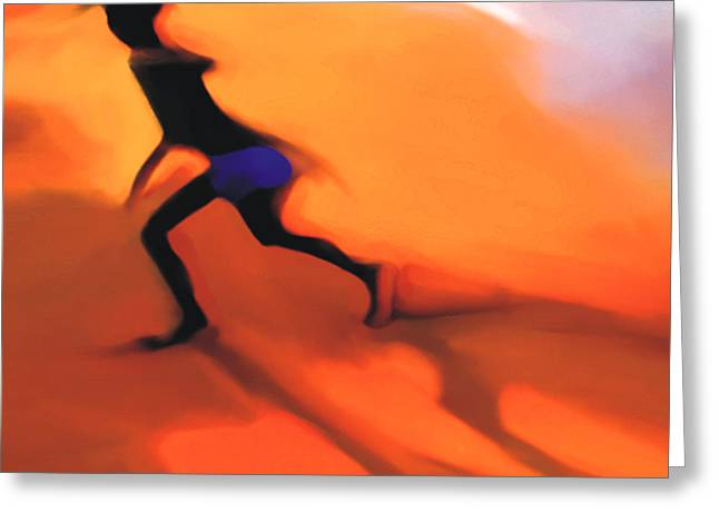 Sillouette Greeting Cards - Hot Sands Greeting Card by Bob Salo