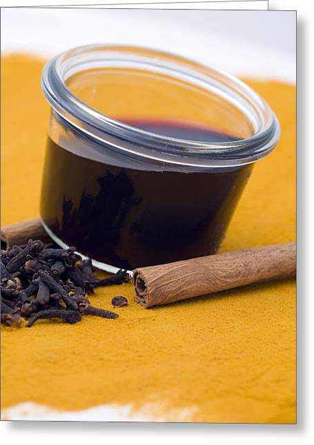 Spice Greeting Cards - Hot spiced wine Greeting Card by Frank Tschakert