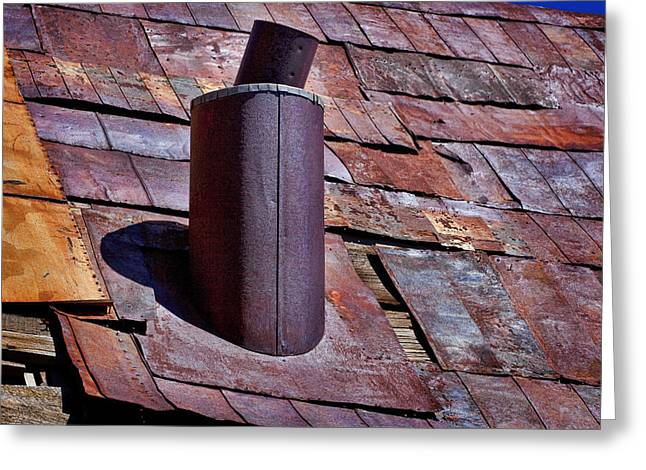 Rusty Tin Roof Greeting Cards - Hot Tin Roof Greeting Card by Kelley King
