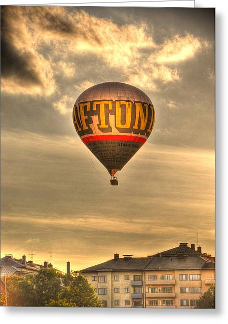 Malmo Digital Art Greeting Cards - Hotair Greeting Card by Barry R Jones Jr