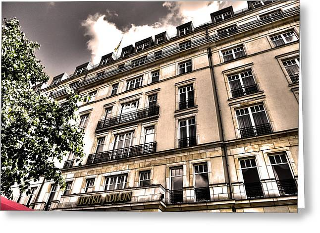 Geschichte Greeting Cards - Hotel Adlon - Berlin Greeting Card by Juergen Weiss
