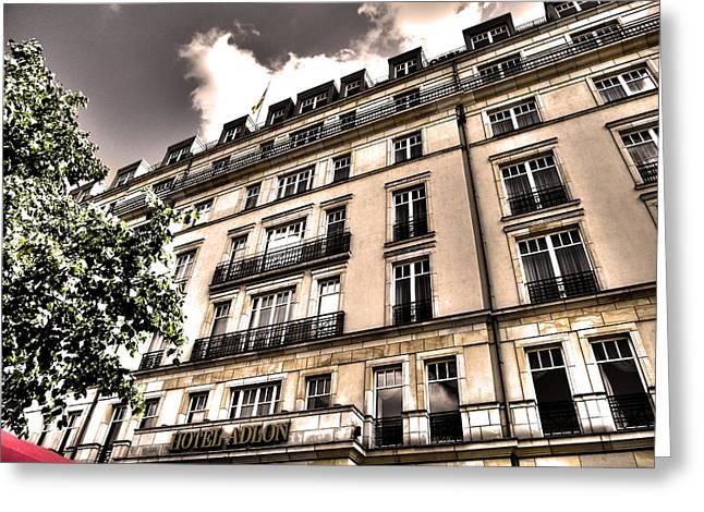 Hotel Adlon - Berlin Greeting Card by Juergen Weiss