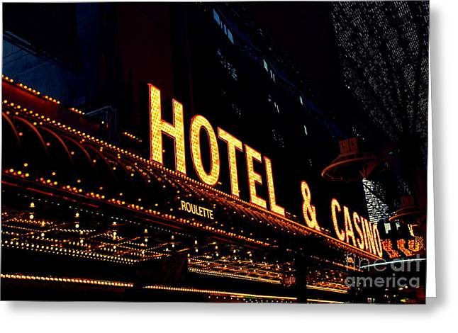 Hotel And Casino In Las Vegas Greeting Card by Susanne Van Hulst