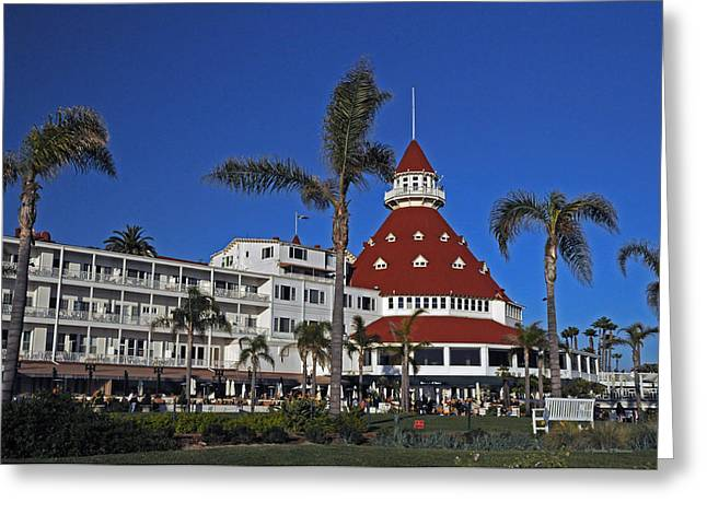 Island Stays Greeting Cards - Hotel Del Coronado  Greeting Card by Jonathan Whichard