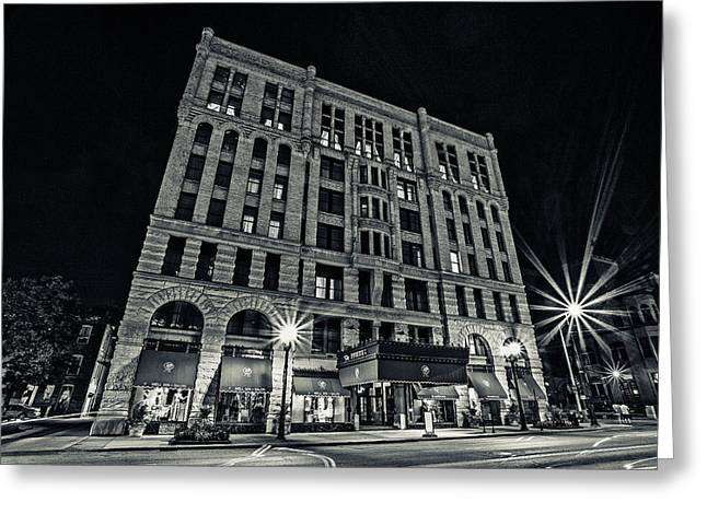 Silver Gelatin Greeting Cards - Hotel Pfister Greeting Card by CJ Schmit