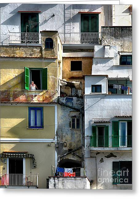 Caost Greeting Cards - Hotel Residence Caprice.Amalfi Coast Greeting Card by Jennie Breeze