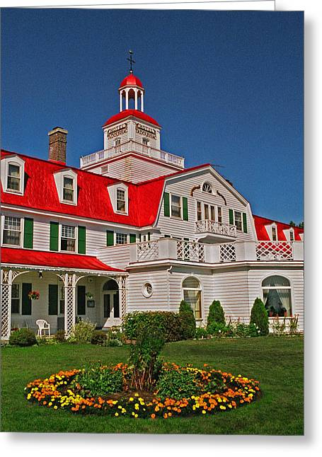 Himmel Greeting Cards - Hotel Tadoussac ... Greeting Card by Juergen Weiss