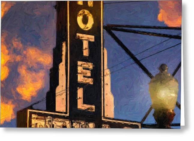 Hotel Texas Greeting Card by Jeff Steed