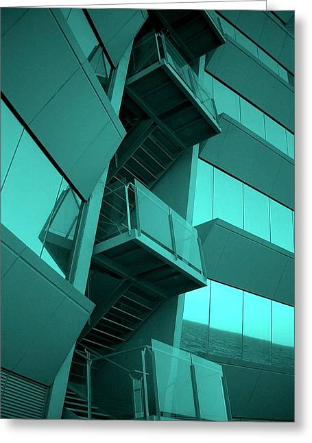 Spiegelung Greeting Cards - Hotel W - Barcelona Greeting Card by Juergen Weiss