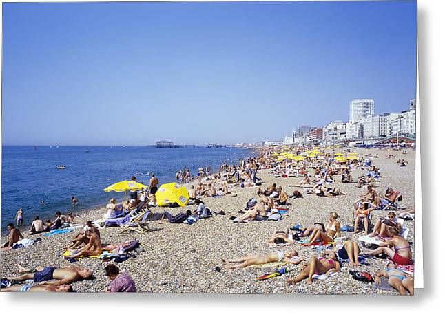 Sunbathing Greeting Cards - Hottest Day Greeting Card by Carlos Dominguez