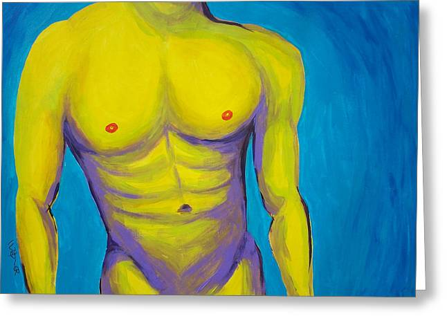 Frontal Nude Greeting Cards - Hottie Greeting Card by Randall Weidner