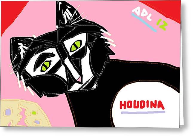 Neutered Greeting Cards - Houdina Greeting Card by Anita Dale Livaditis