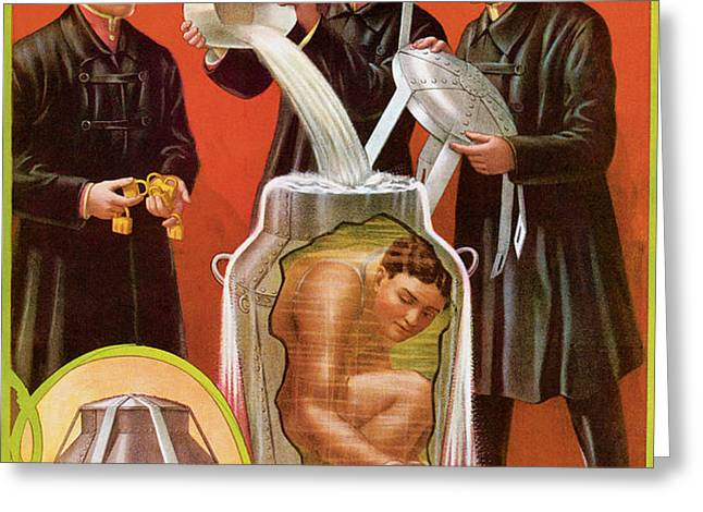 Houdini's Death Defying Mystery Greeting Card by Unknown