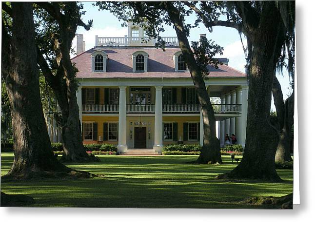 Charlotte Mansion Greeting Cards - Houmas House Plantation Greeting Card by Nelson and Cheryl Strong