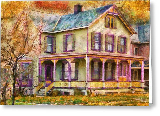 Present For You Greeting Cards - House -  Clinton NJ - Grandma had a big family Greeting Card by Mike Savad