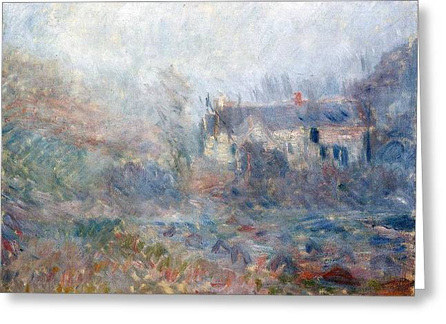 Country Cottage Greeting Cards - House at Falaise Greeting Card by Claude Monet
