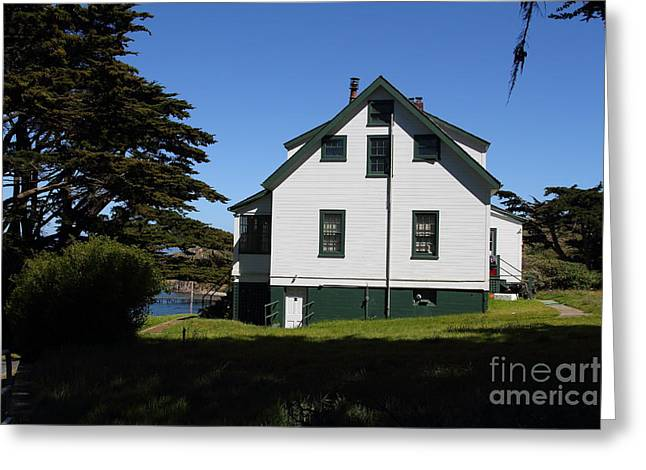 Old Shack Greeting Cards - House At Point Reyes Calfornia . 7D16125 Greeting Card by Wingsdomain Art and Photography