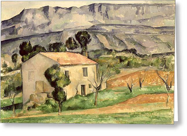Farmhouse Greeting Cards - House in Provence Greeting Card by Paul Cezanne