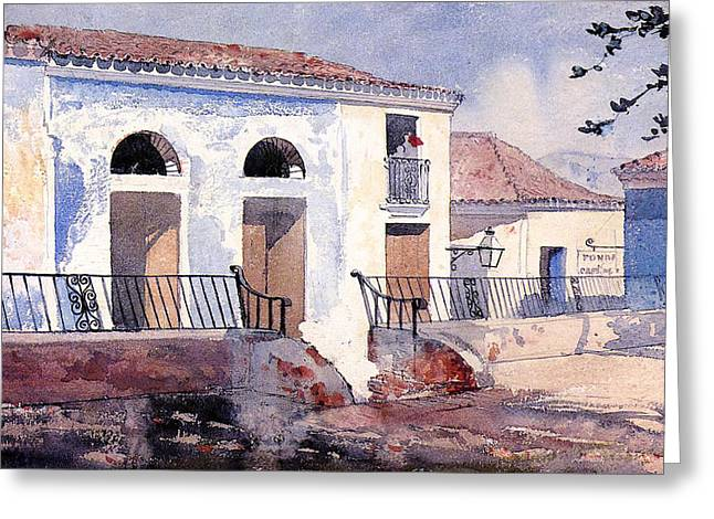 In-city Greeting Cards - House in Santiago Greeting Card by Winslow Homer