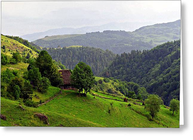 House In The Apuseni Mountains Greeting Card by Emanuel Tanjala