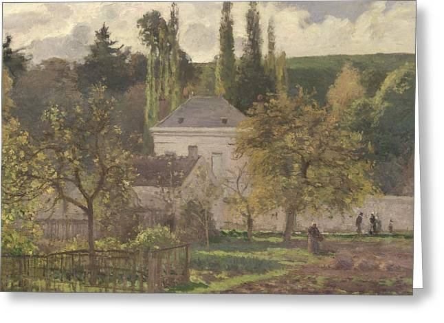 The Hermitage Greeting Cards - House in the Hermitage Greeting Card by Camille Pissarro