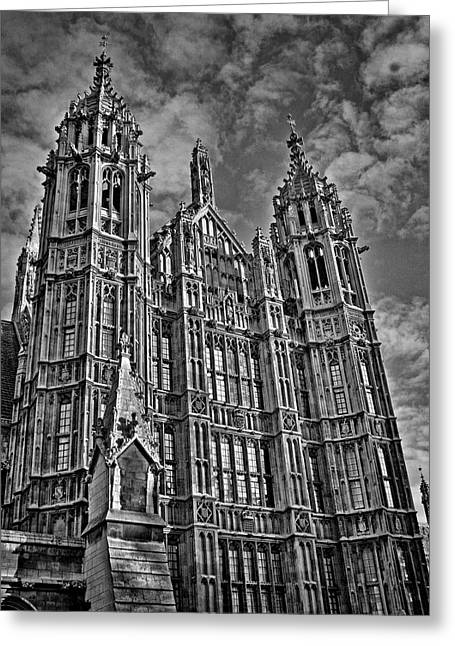 Perpendicular Greeting Cards - House of Lords Greeting Card by Heather Applegate
