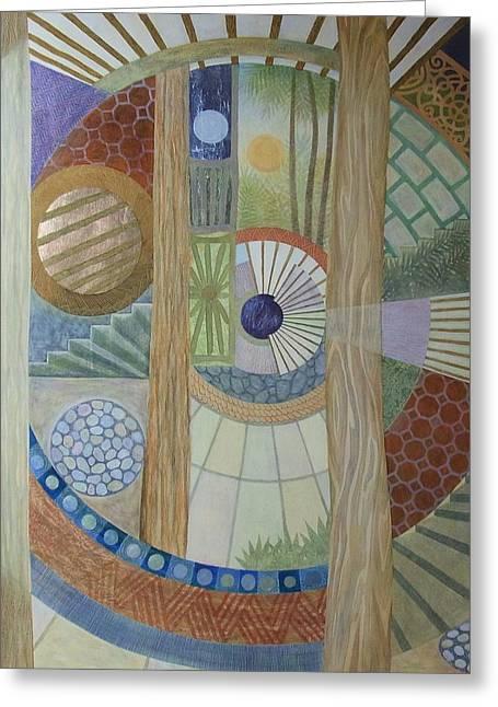 House Of The Meditator Greeting Card by Jennifer Baird