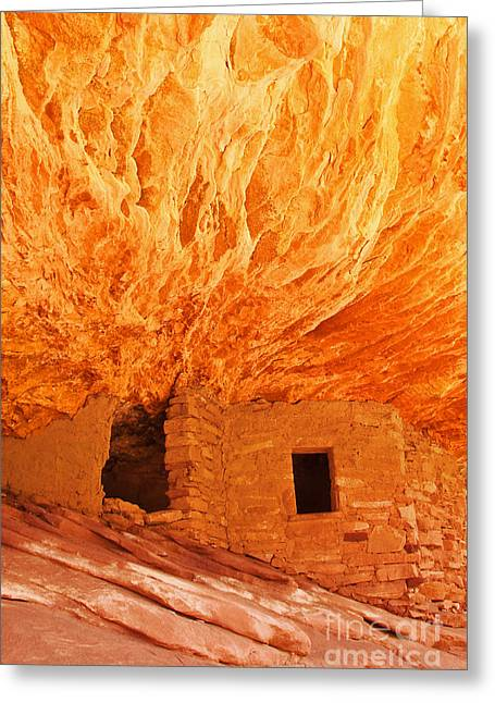 Slickrock Greeting Cards - House on Fire Portrait 1 Greeting Card by Bob and Nancy Kendrick