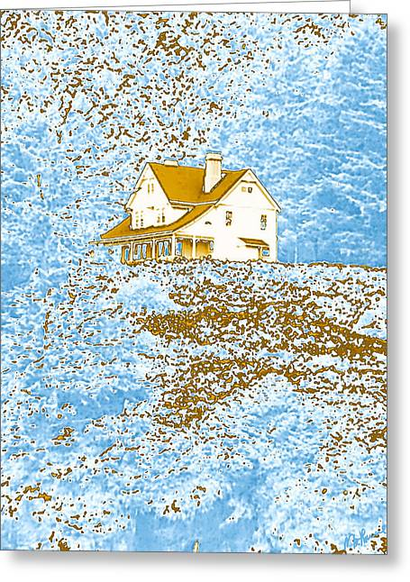 The Hills Greeting Cards - House On The Hill Greeting Card by Methune Hively