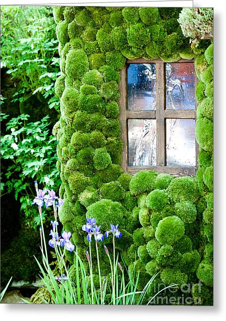Moss Green Greeting Cards - House with moss walls Greeting Card by Simon Bratt Photography LRPS