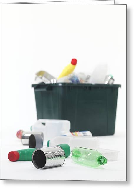 Untidy Greeting Cards - Household Recycling Greeting Card by Tek Image