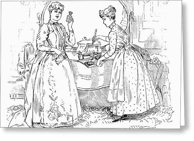 Housemaid Greeting Cards - Housemaid, 1890 Greeting Card by Granger
