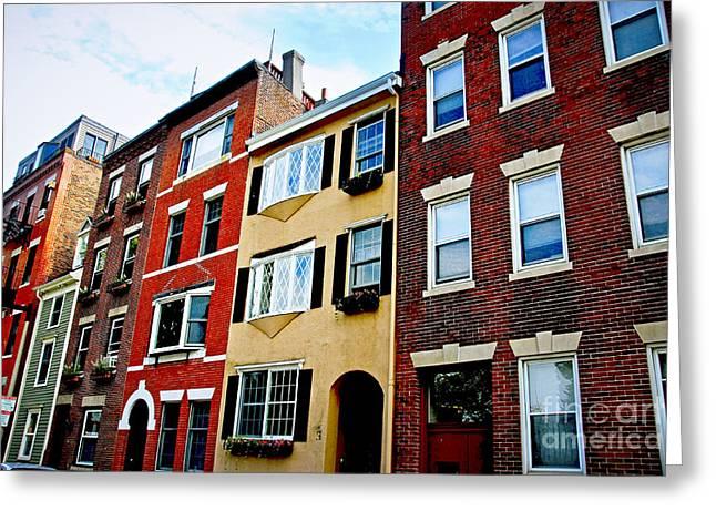 Houses in Boston Greeting Card by Elena Elisseeva