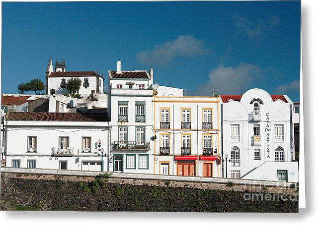 Houses In Ponta Delgada Greeting Card by Gaspar Avila