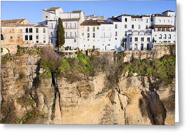 Hill Top Village Greeting Cards - Houses on a Cliff in Ronda Town Greeting Card by Artur Bogacki