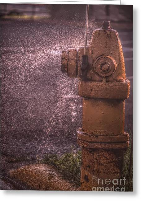 Leaks Greeting Cards - Houston... We Have A Leak Greeting Card by The Stone Age