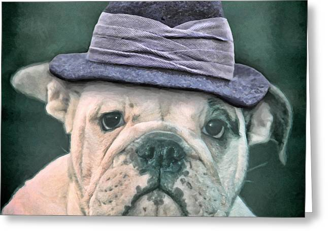 Bulldog Puppies Pictures Greeting Cards - How cool am I Greeting Card by Martin  Fry