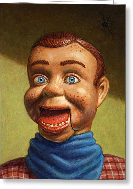 Puppet Greeting Cards - Howdy Doody dodged a bullet Greeting Card by James W Johnson