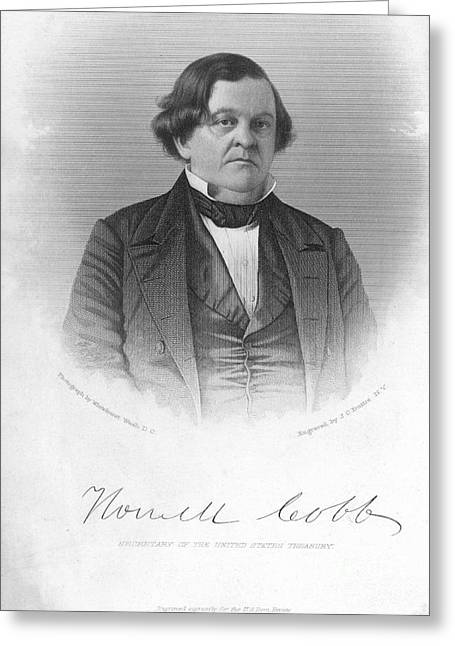 Statesman Greeting Cards - Howell Cobb (1815-1868) Greeting Card by Granger