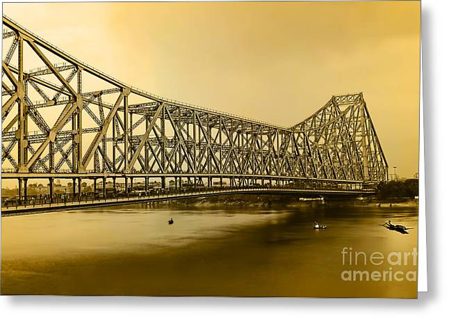 Howrah Bridge Greeting Card by Mukesh Srivastava