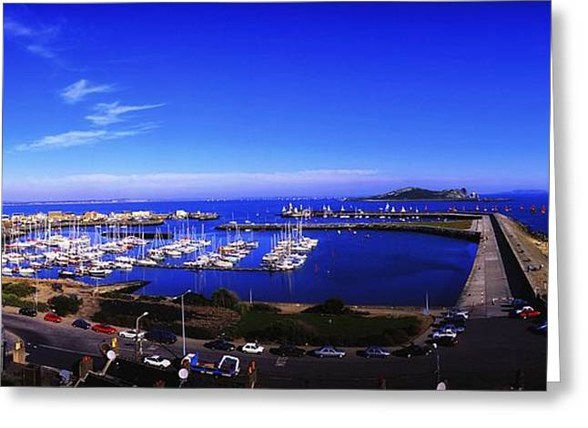 Ocean Panorama Greeting Cards - Howth Harbour, Co Dublin, Ireland Greeting Card by The Irish Image Collection