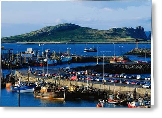 The Tourist Trade Greeting Cards - Howth Harbour & Irelands Eye, Co Greeting Card by The Irish Image Collection