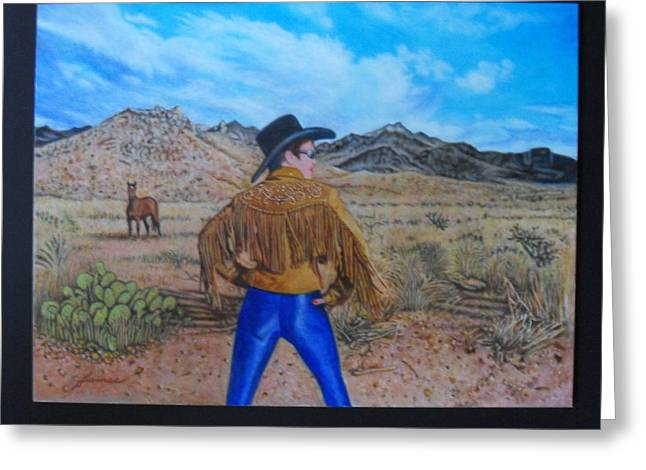 Contemporary Cowgirl Gallery Greeting Cards - Wild Girls Of The West Greeting Card by James Welch