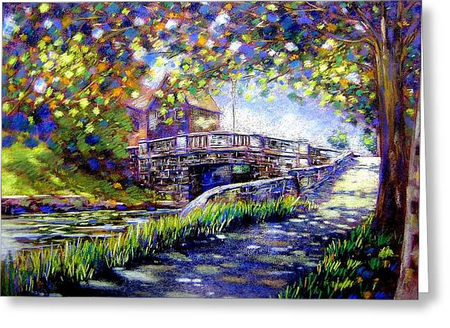Acrylic Pastels Greeting Cards - Huband Bridge Dublin City Greeting Card by John  Nolan