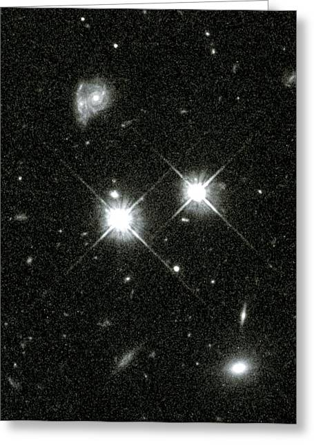 Hst Greeting Cards - Hubble Space Telescopes 100,000th Image Greeting Card by Nasaesastscic.steidel, Caltech
