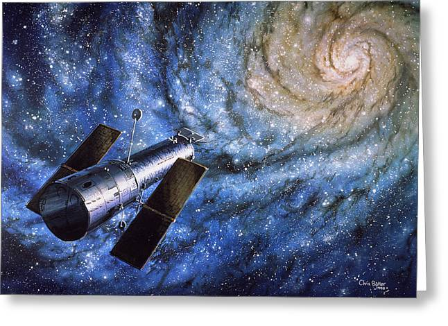 Hst Greeting Cards - Hubble Telescope Greeting Card by Chris Butler