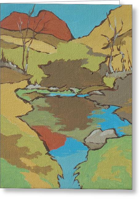 Oak Creek Paintings Greeting Cards - Huckaby Trail Greeting Card by Sandy Tracey