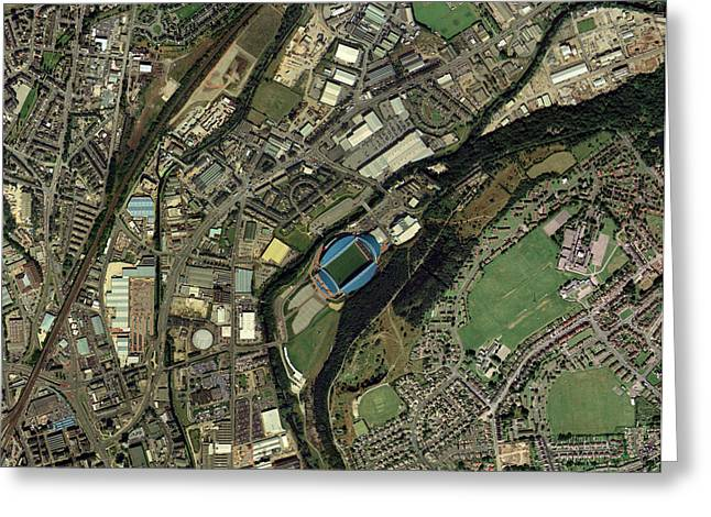 West Yorkshire Greeting Cards - Huddersfield, Uk, Aerial Image Greeting Card by Getmapping Plc