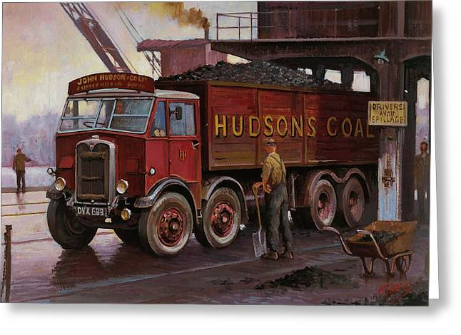 Original For Sale Greeting Cards - Hudsons coal. Greeting Card by Mike  Jeffries
