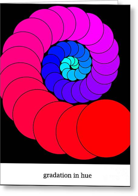 Gradations Digital Art Greeting Cards - Hue Greeting Card by Rachel  Harris